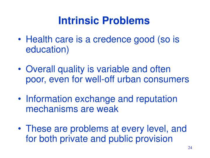 Intrinsic Problems