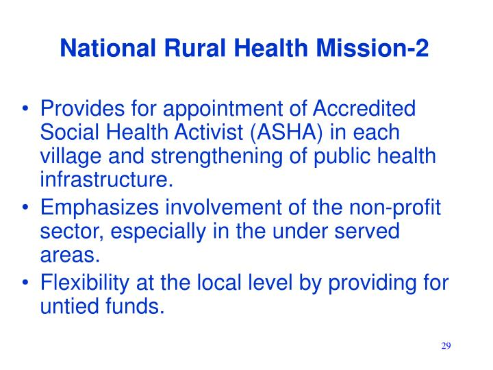 National Rural Health Mission-2