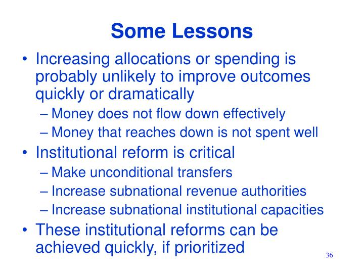 Some Lessons