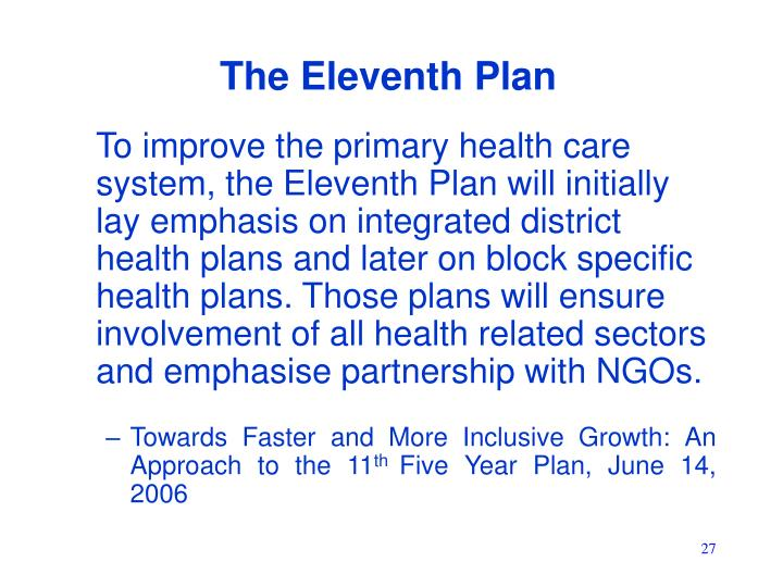 The Eleventh Plan