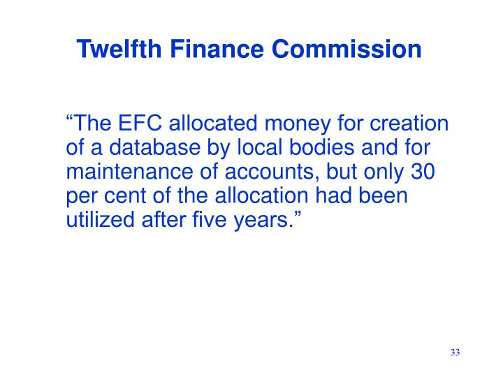 Twelfth Finance Commission