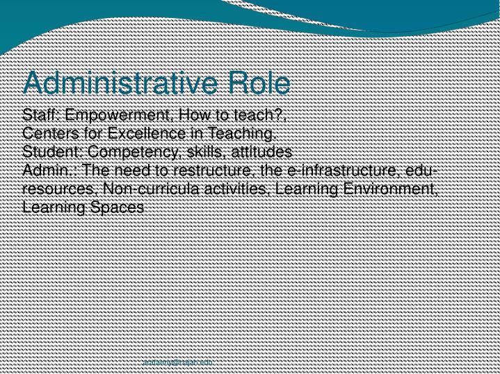 Administrative Role