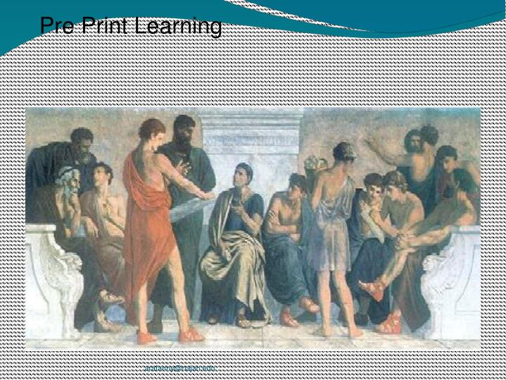 Pre Print Learning