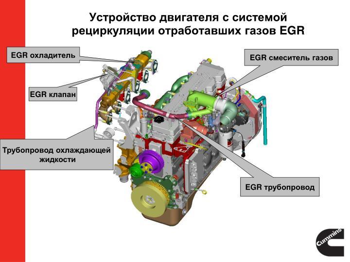 Устройство двигателя с системой