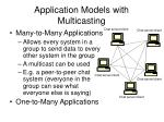 application models with multicasting