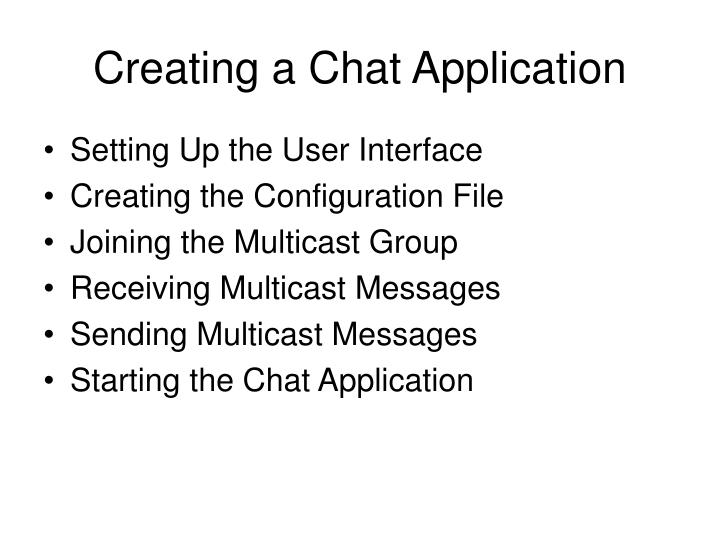 Creating a Chat Application