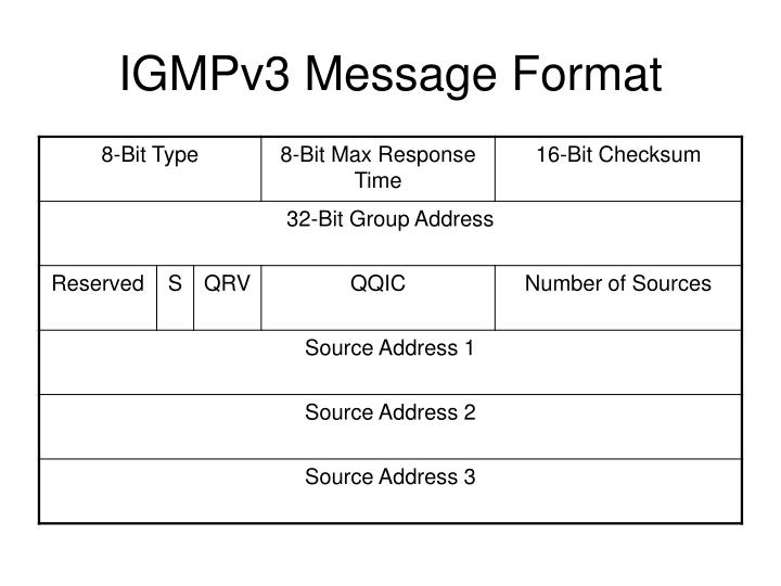 IGMPv3 Message Format