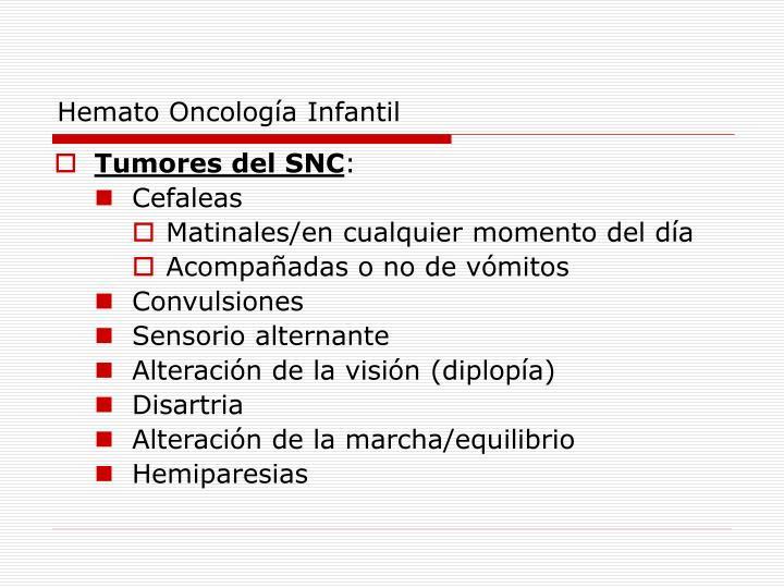 Hemato Oncología Infantil