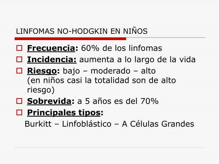 LINFOMAS NO-HODGKIN EN NIÑOS