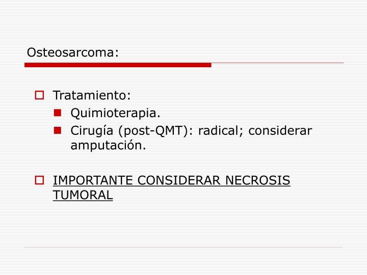 Osteosarcoma: