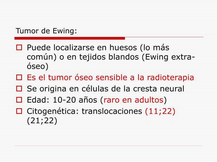 Tumor de Ewing: