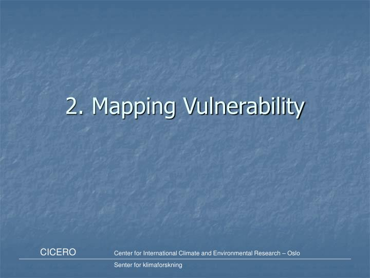 2. Mapping Vulnerability