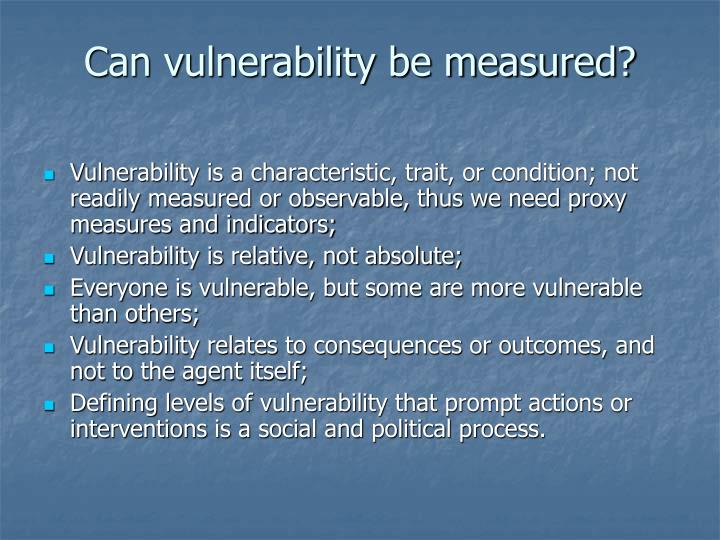 Can vulnerability be measured?