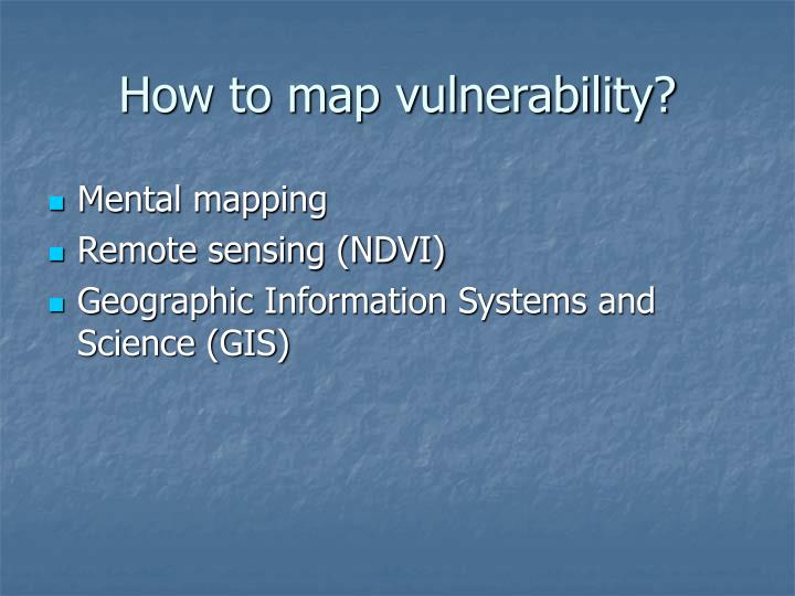 How to map vulnerability?