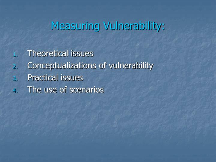 Measuring vulnerability