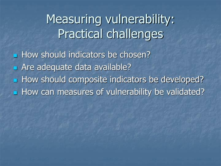 Measuring vulnerability: