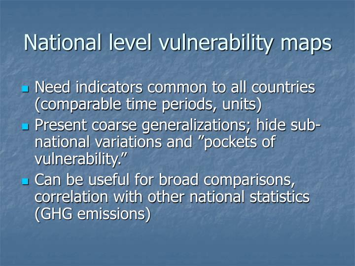 National level vulnerability maps