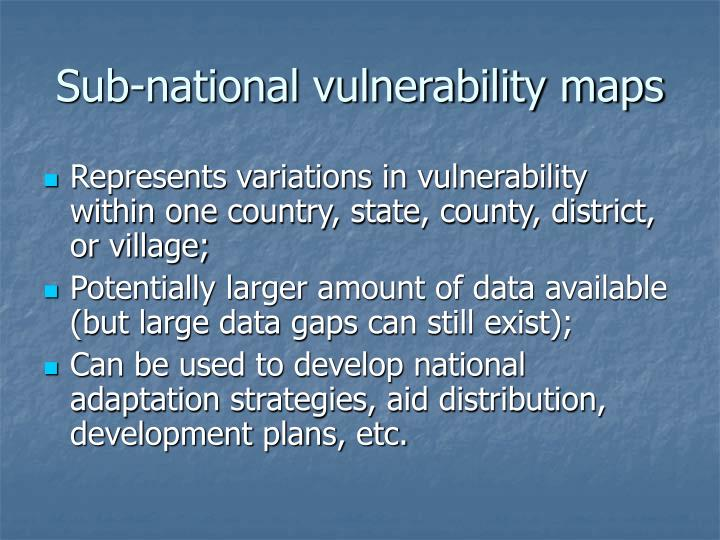 Sub-national vulnerability maps