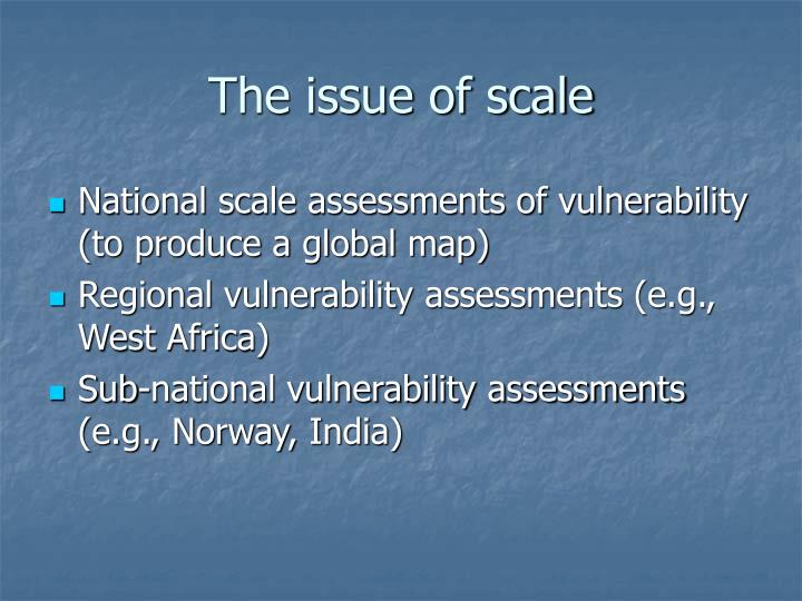 The issue of scale