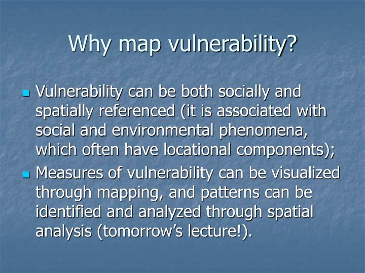 Why map vulnerability?