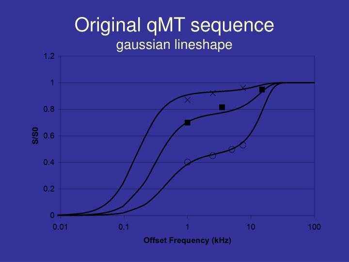 Original qMT sequence