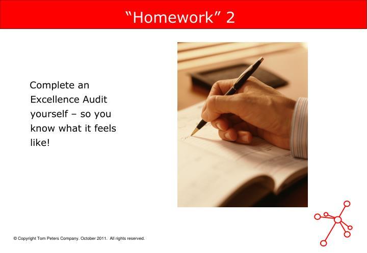 """""""Homework"""" 2"""