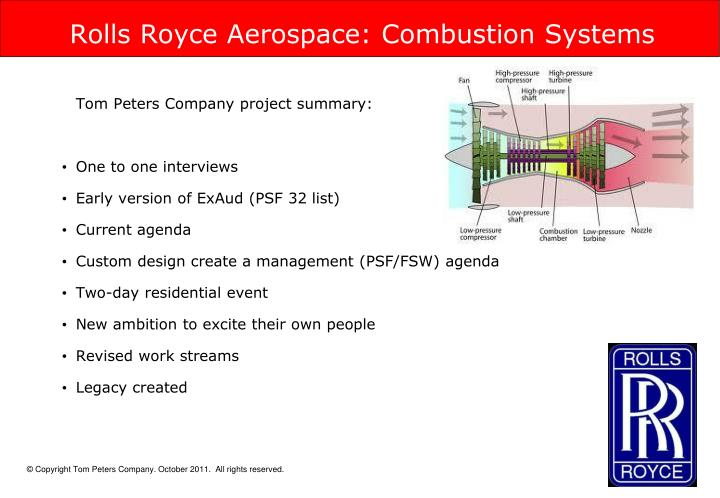 Rolls Royce Aerospace: Combustion Systems