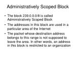 administratively scoped block