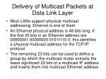 delivery of multicast packets at data link layer
