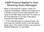 igmp protocol applied to host receiving query messages