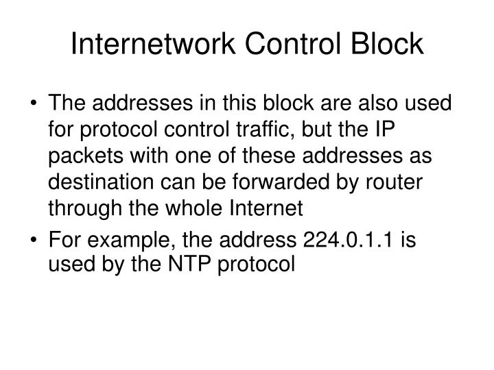 Internetwork Control Block