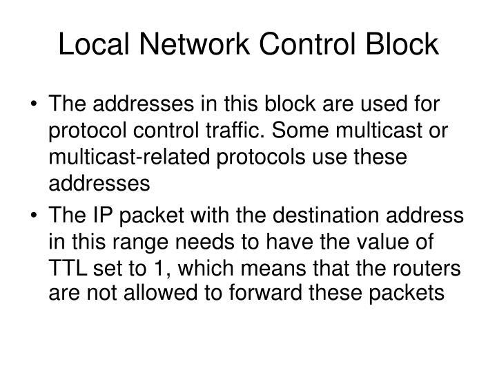 Local Network Control Block