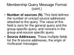 membership query message format cont1