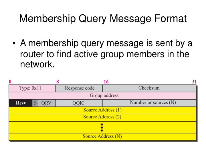 Membership Query Message Format