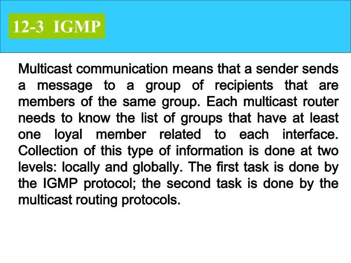 12-3  IGMP