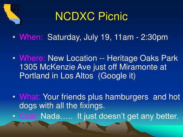 NCDXC Picnic
