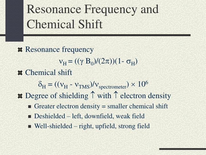 Resonance Frequency and Chemical Shift