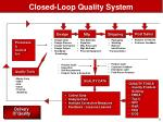 closed loop quality system