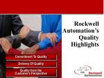 rockwell automation s quality highlights