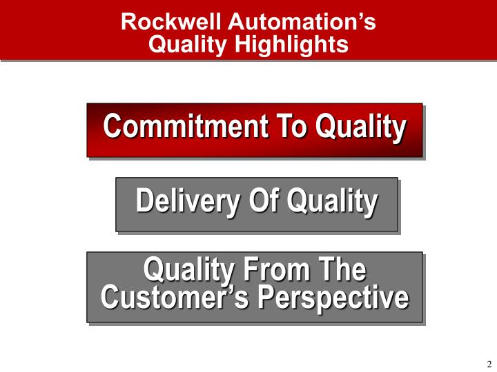 Rockwell automation s quality highlights1