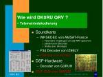 wie wird dk0ru qrv telemetriedekodierung
