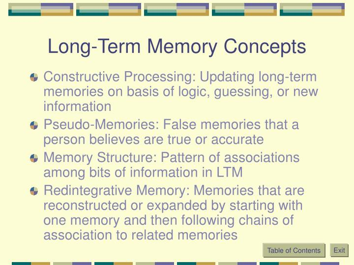 Long-Term Memory Concepts