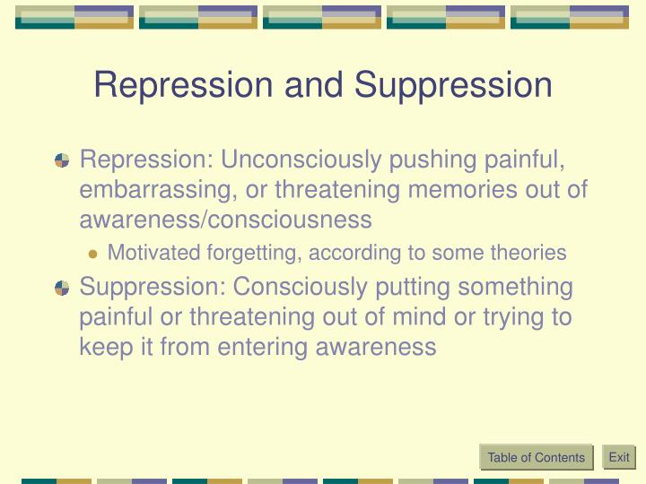 Repression and Suppression