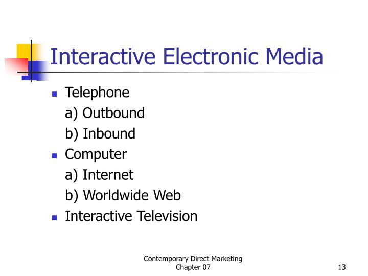 Interactive Electronic Media