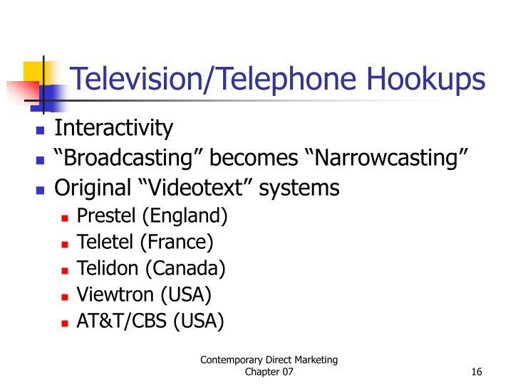 Television/Telephone Hookups