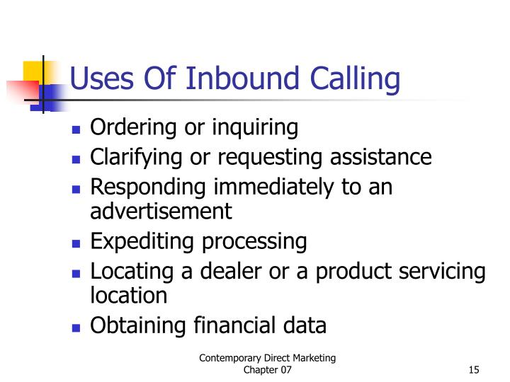 Uses Of Inbound Calling
