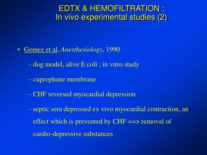 EDTX & HEMOFILTRATION :