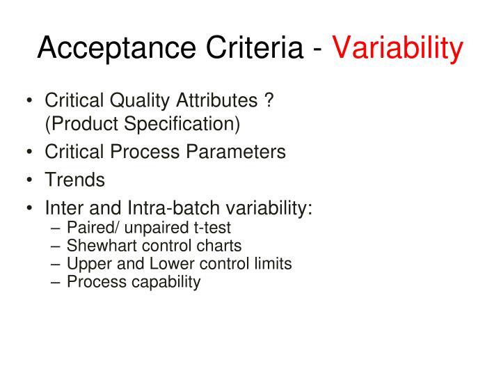 Acceptance Criteria -
