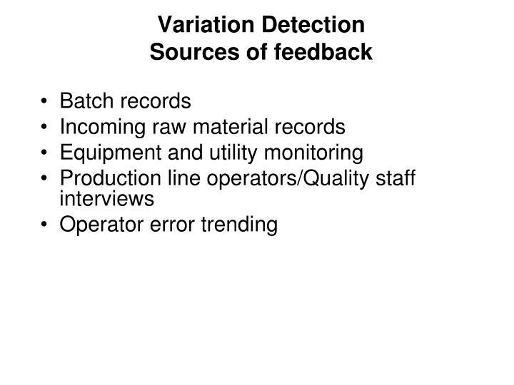 Variation Detection