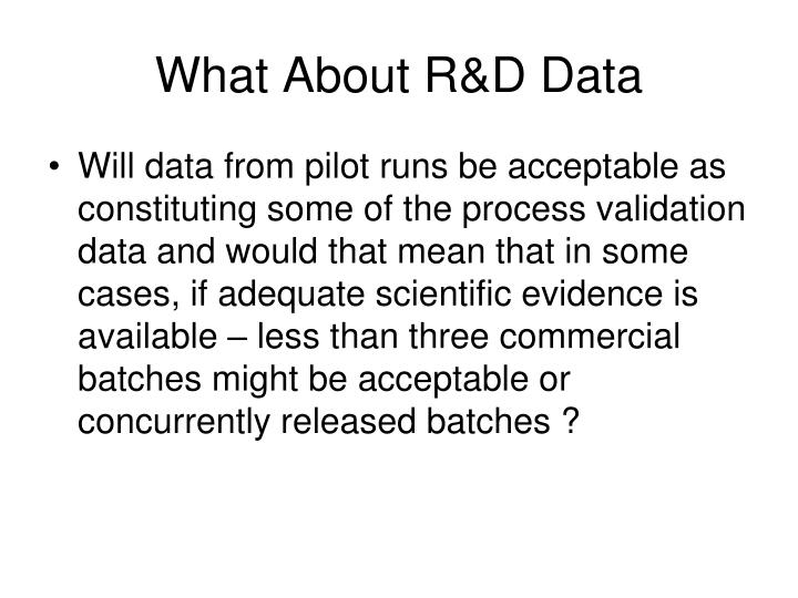 What About R&D Data